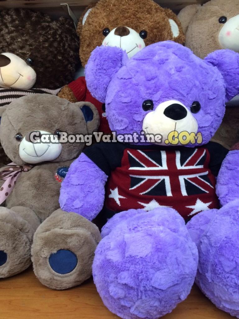 Gấu Bông Tím Cờ Anh