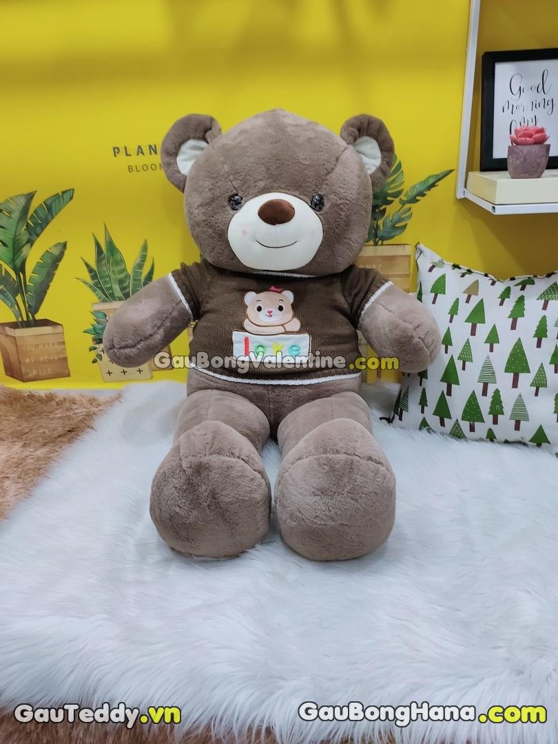 Gấu Bông LOVE Áo Nâu