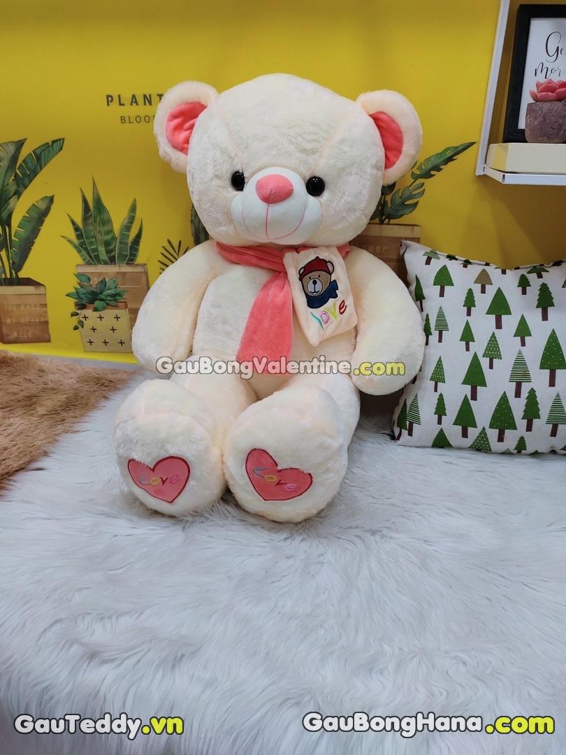 Gấu Bông Khăn Choàng Chân Tim