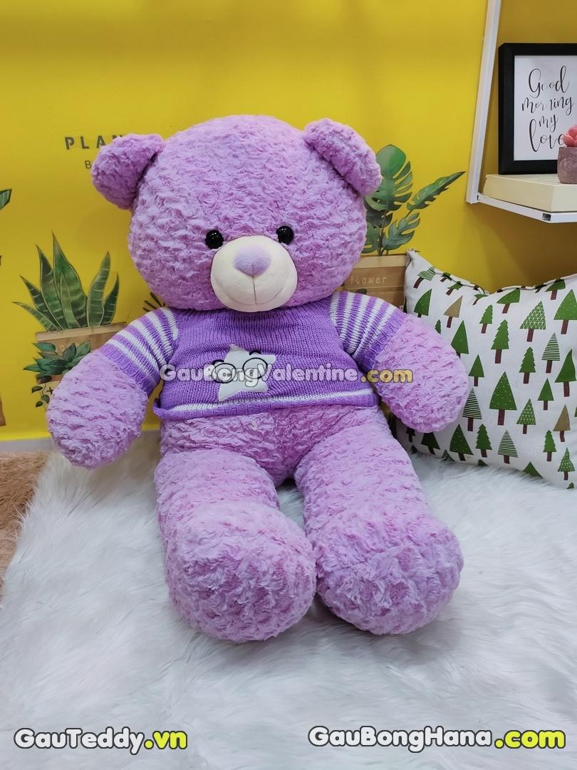 Gấu Bông Tím Áo Sao