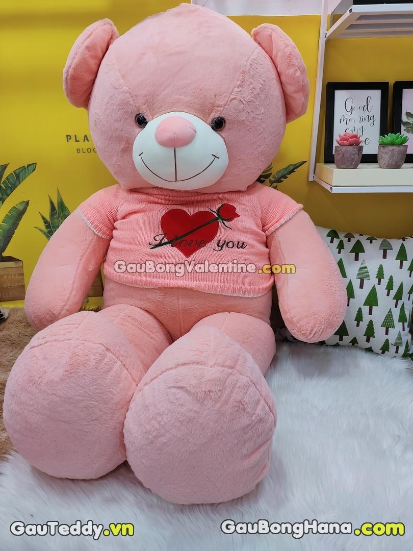 Gấu Bông Hồng Áo Hoa
