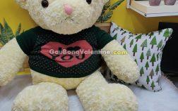 Gấu Bông Lông Xoắn I Love You