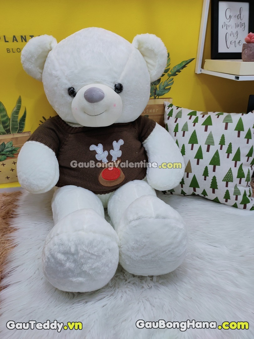 Gấu Bông Trắng Áo Nâu