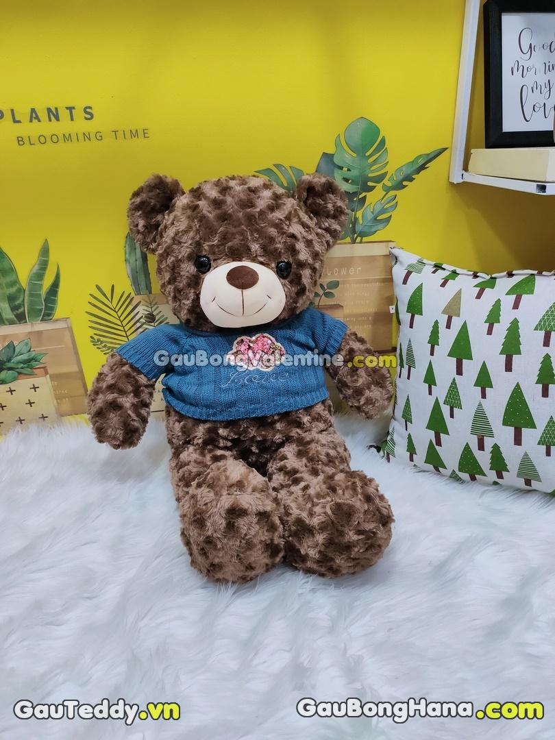 Gấu Bông Aó Kim Sa Xanh Dương