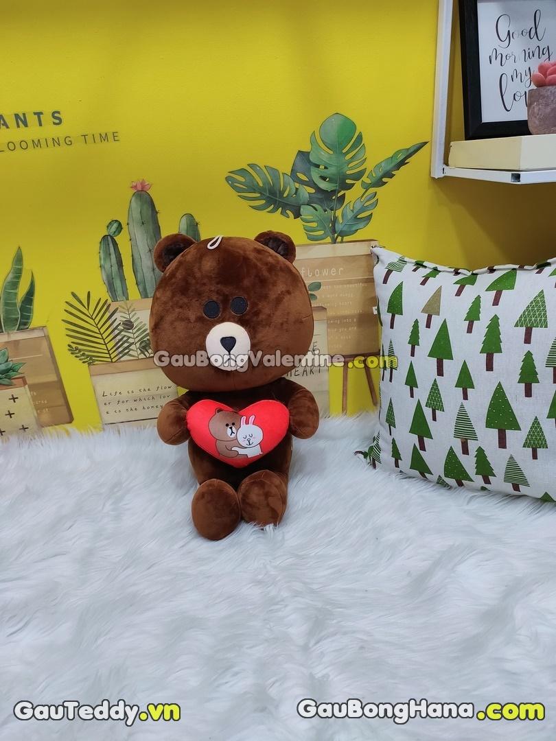 Gấu Bông Brown Ôm Tim