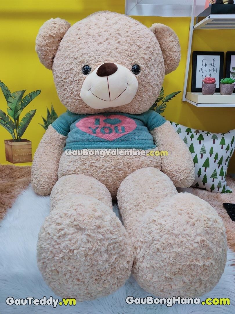 Gấu Bông Nâu Lông Xoắn Love You