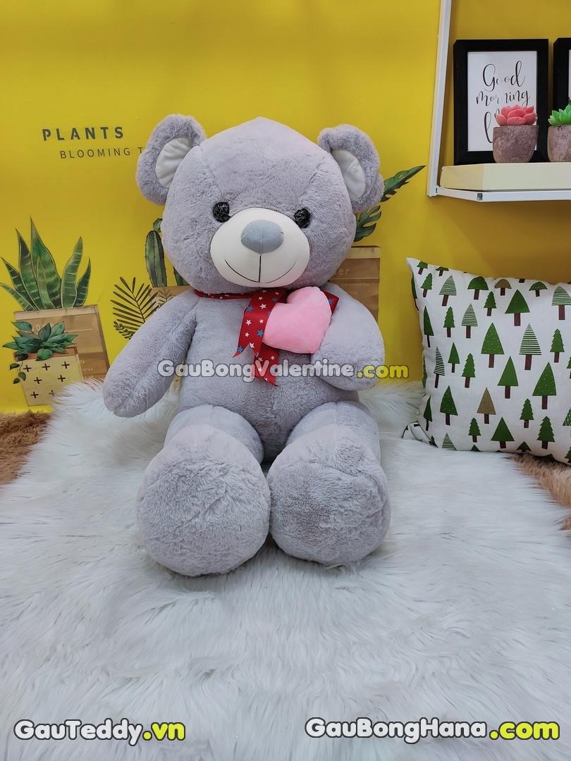 Gấu Bông Đeo Nơ Ôm Tim