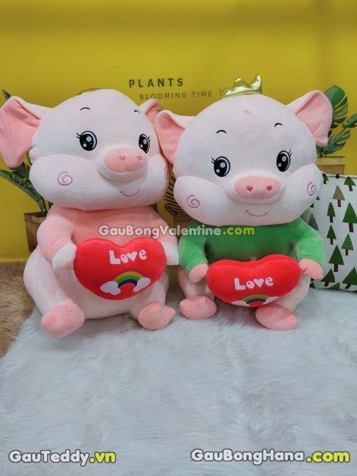 Heo Bông Ôm Tim Love